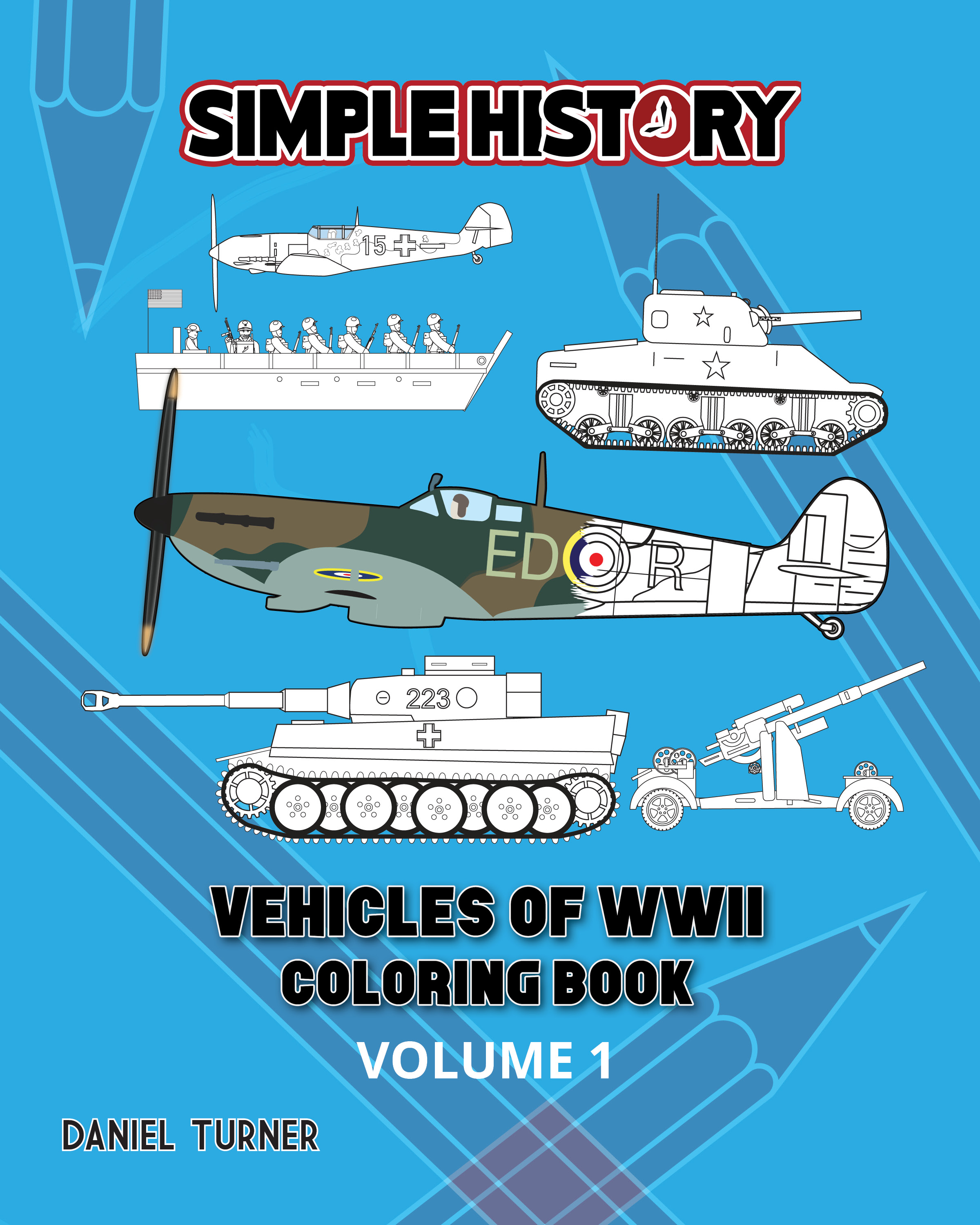 Simple Book Cover Uk : Simple history vehicles of world war ii coloring book